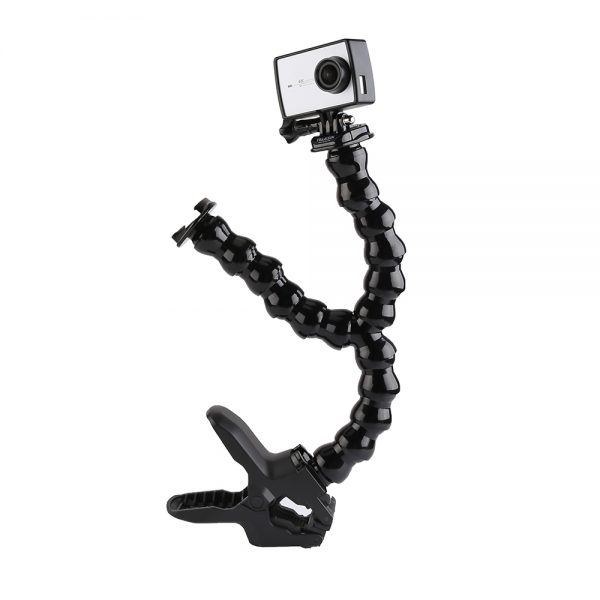 Double goose neck with Jaw clamp mount