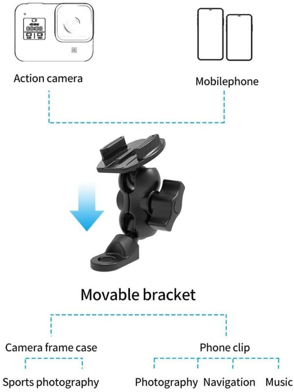 rearview mirror Adapter for action cam and phone